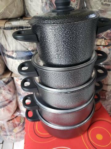 Jogo de panelas várias cores alumínio reforçado - Foto 2