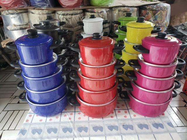 Jogo de panelas coloridas alumínio - Foto 4