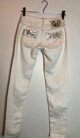 Calça Branca Customizada - Colcci # 38