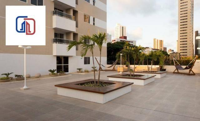 Apartamento com 2 dormitórios à venda, 62 m² por R$ 377.137 - Manaíra - João Pessoa/PB - Foto 3