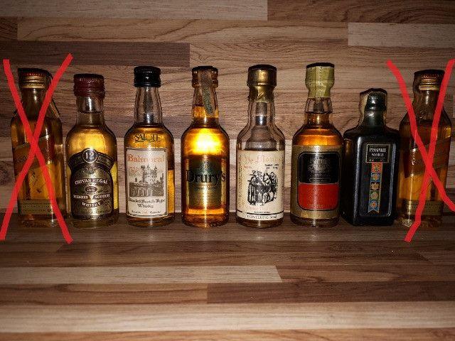 Mini Garrafinhas Colecionáveis de Whisky (Lote)