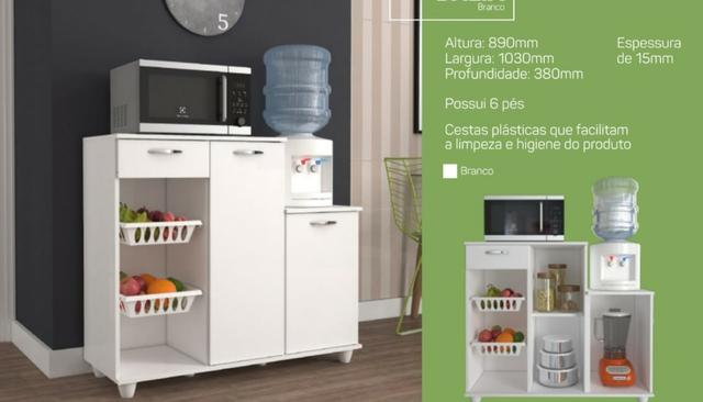 Armário Micro e Fruteira Dalia - Solare (Nova) Promoção