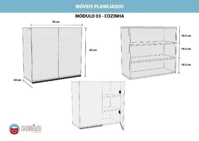 Módulo M03 em MDF Para Cozinha - Foto 4