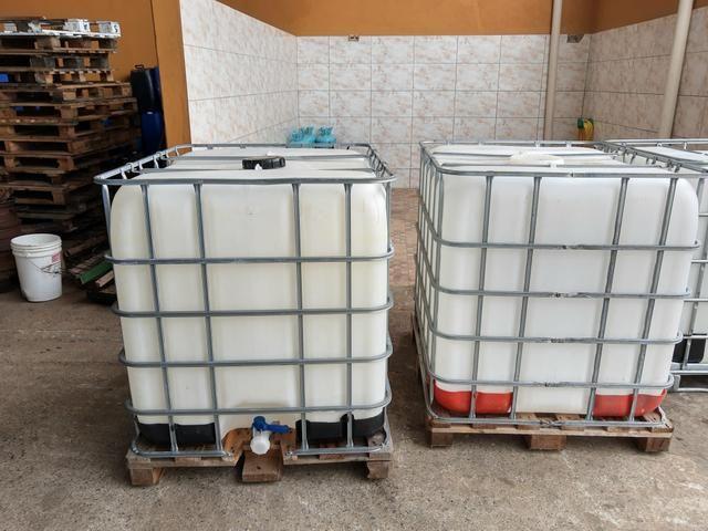 Contêiner de 1000 LT completo para água de reúso, combustível - Foto 2