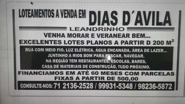 Loteamento a venda em Dias D'ávila