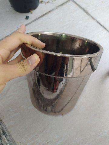 Jarro para plantas prata lindo Ubá ou Jf - Foto 3