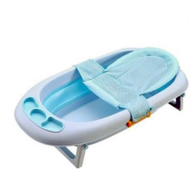 Rede acolchoada para proteção do banho do bebê - Foto 4