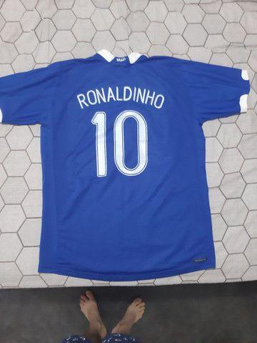 Camiseta futebol Ronaldinho 2006