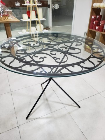 Linda mesa de vidro trabalhada !!! - Foto 4