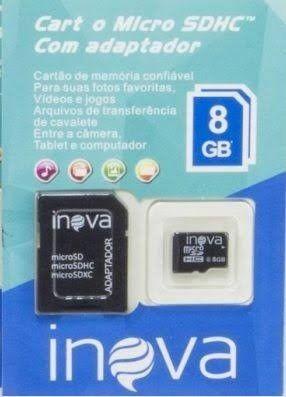 Cartão De Memória Micro Sd 8 GB Inova