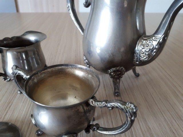 Jogo bule prata português antiguidade - Foto 5