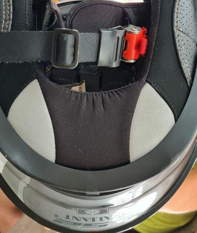 Capacete LS2 FF399 Valiant Jeans Tamanho-56 Cor-Titanium - Foto 10