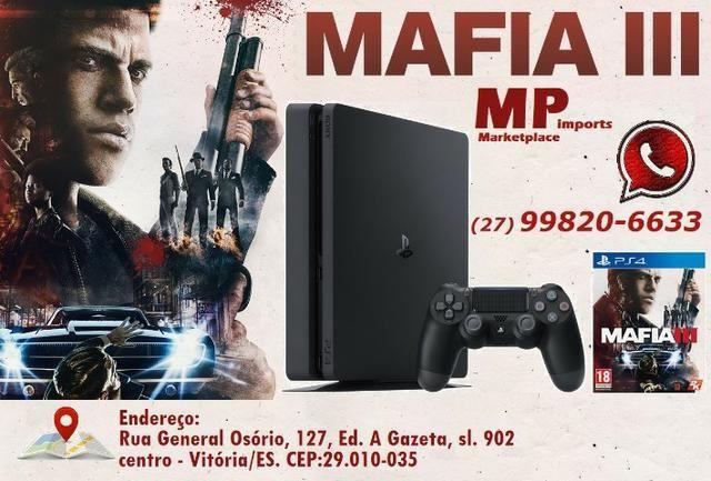 Playstation 4 c/ Mafia III. Estoque limitado!! Não perca!!! Lacrado! Loja! Opção 12x e déb