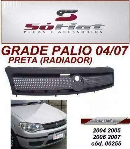 Palio/Grade/Preta Radiador 2004/2005/2006/2007 novo p/ Fiat