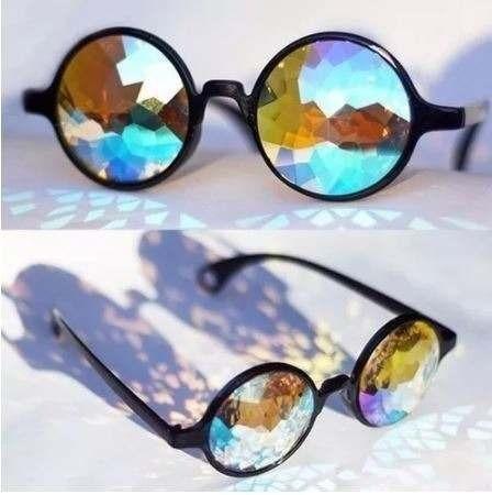 Óculos caleidoscópico psicodélico unissex rave