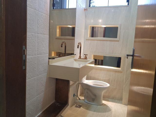 Casa Nova c/ 3 Suítes + Área de Lazer em Cond. Fechado na DF-425 - Sobradinho - Foto 13