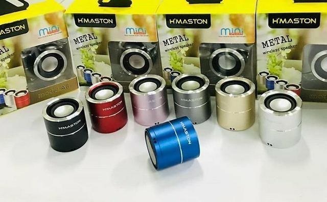 Mini Caixa de SOM bluetooth Metal H'maston (Loja Virtual) (Frete na Descrição)