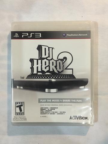 Jogo PS3 DJ HERO 2 + TURNTABLE + SUPORTE PARA TURNTABLE