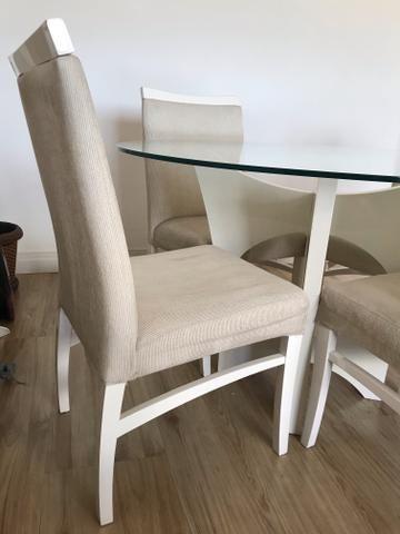 Mesa redonda com 4 cadeiras - Foto 3