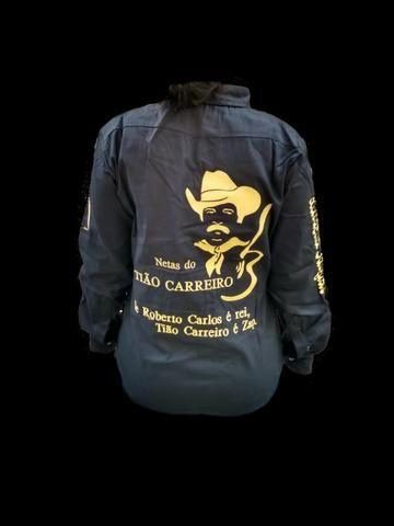 Camisa Personalizada Comitiva Cavalgada Rodeio Montaria Queima do Alho - Foto 2