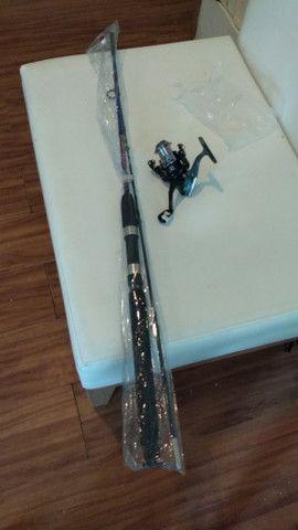 Vende-se vara de pescar completa nunca usada !! R$ 120,00 - Foto 4