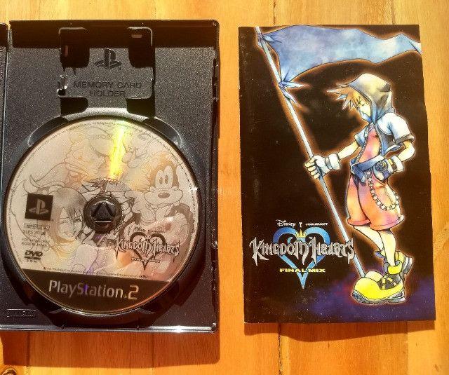 Kingdom Hearts Final Mix - PS2 - Japonês Original - Foto 3