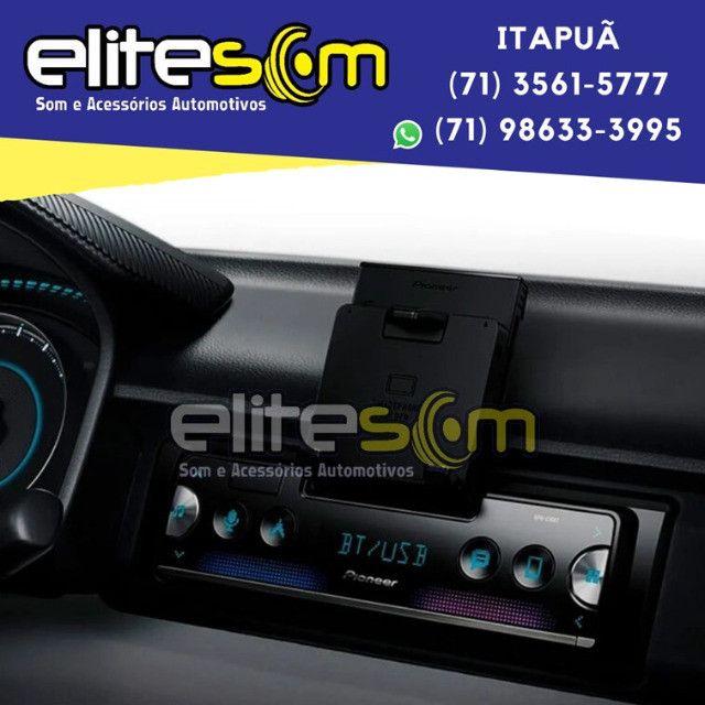 Aparelho Pioneer Sph-c10bt Smartphone Bluetooth Smart Sync instalado na Elite Som - Foto 11