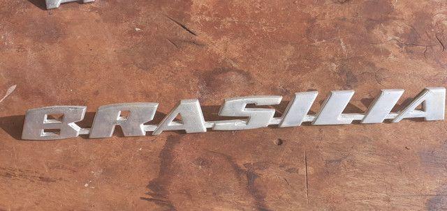 Emblema vw Brasília em aluninio - Foto 3