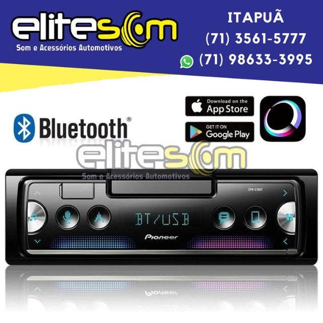 Aparelho Pioneer Sph-c10bt Smartphone Bluetooth Smart Sync instalado na Elite Som - Foto 7