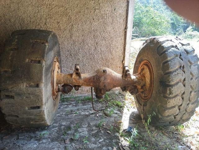 Diferencial completo com rodas e pneus - Foto 3