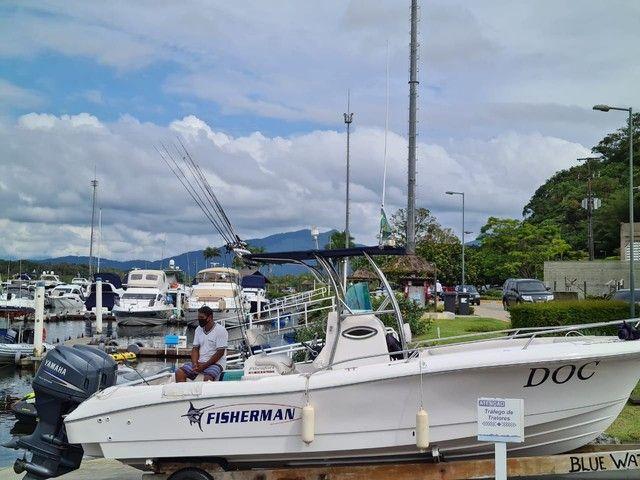 Fisherman 238 Ano 2007 x2 Yamaha 115 HP 4TP não Fishing Victoy Casbrasmar Pesca  - Foto 12