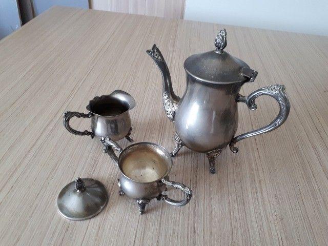 Jogo bule prata português antiguidade - Foto 6