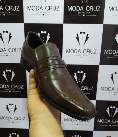 Sapato social COURO LEGÍTIMO - COR CAFÉ ESCURO  - Foto 2