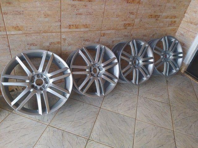 Rodas aro 19 5 furos com 2 pneus