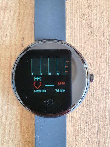 "Smartwatch Lemfo Tela 1,3"" Monitor Cardíaco Prova d'água  - Foto 4"
