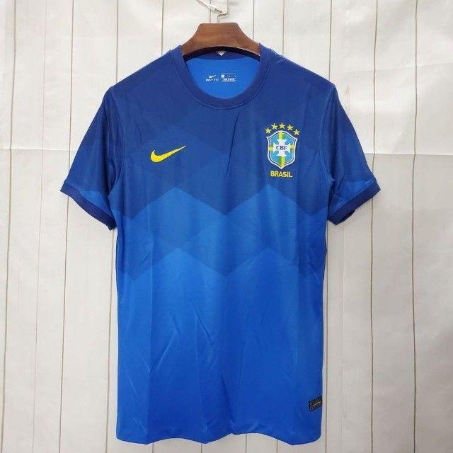 Camisa Brasil II 20/21 S/nº Azul