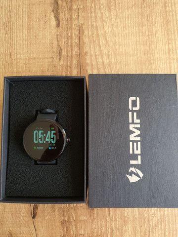 "Smartwatch Lemfo Tela 1,3"" Monitor Cardíaco Prova d'água"