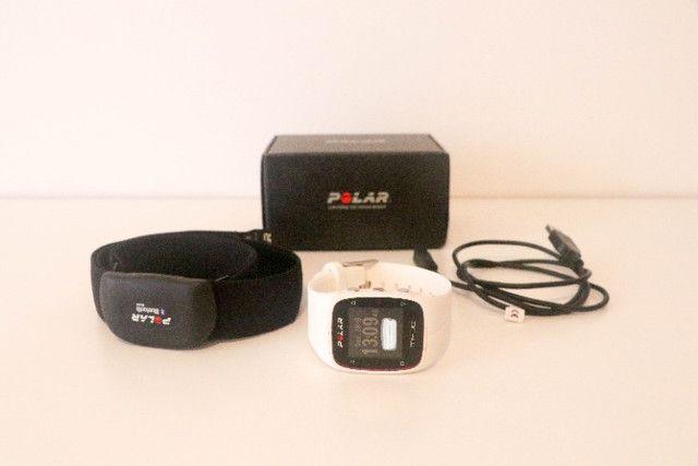 Relógio Polar M400 com GPS e Monitor Cardíaco (usado)