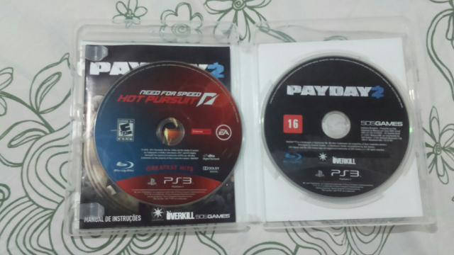 Vendo Need for speed hot pursuit e payday 2 para ps3