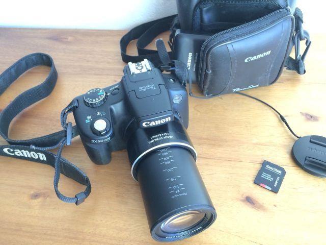 Canon Sx50hs Powershot + Cartão Sd 32gb Class 10 + Case