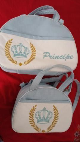 Vendo ou troco duas lindas bolsas de bebê menino so usei p ir p maternidade