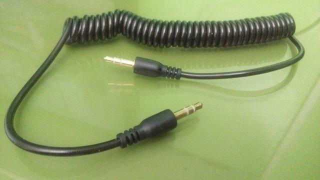 Cabo de áudio espiral p2/p2