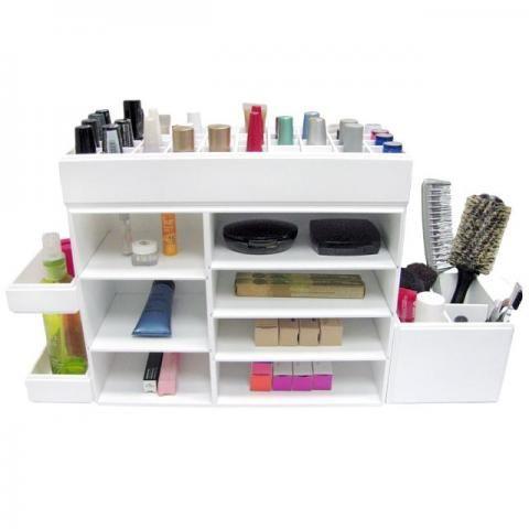 Organizador de maquiagem em madeira mdf