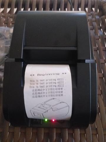 Impressora termica /thermal printer cupom/recibo não fiscal