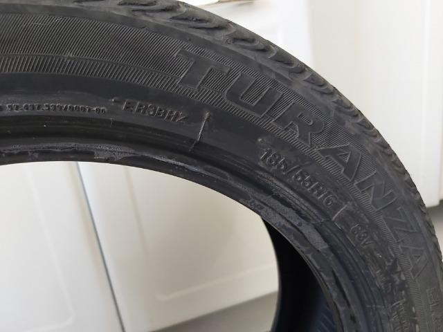 Pneu Bridgestone Turanza 185/55/16 Meia vida 4 unidades