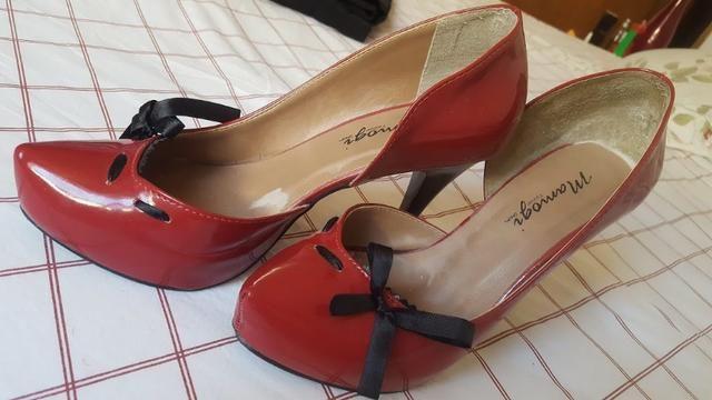 8356fc36a2 3 lindos sapatos de salto nro 38 - Roupas e calçados - Méier