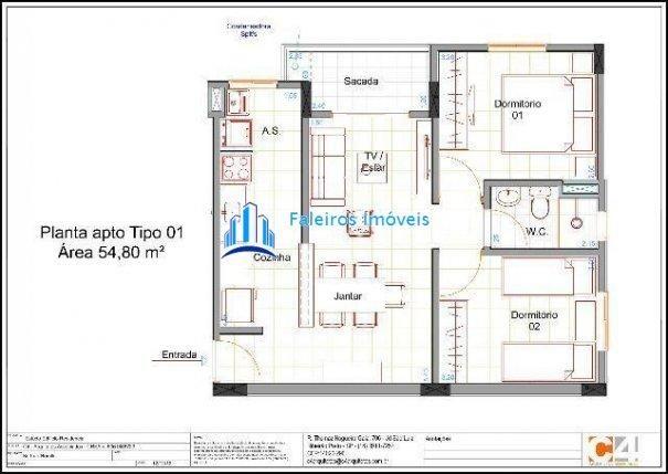 Aparatmento 2 dormitórios com sacada e lazer completo - Apartamento a Venda no b... - Foto 7