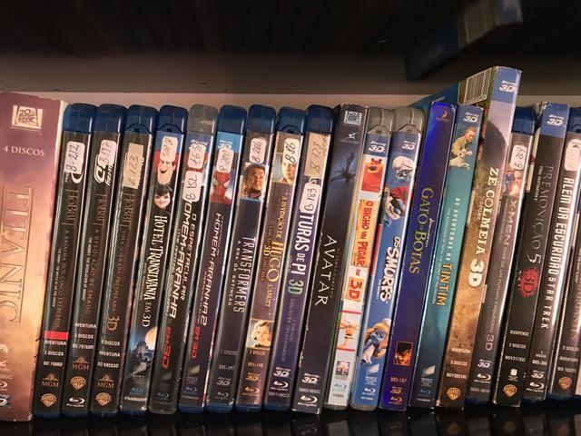 Filmes Blu-ray 3D e normais - coleção