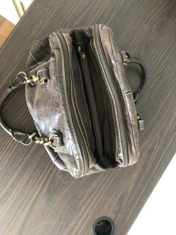 Bolsa animale de couro marrom - Foto 4