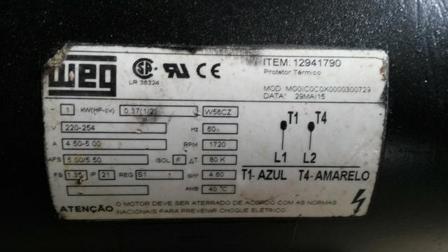 Bomba de transferência de 1/2 cv 220 volts - Foto 4